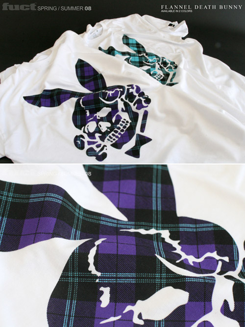 fuct flannel death bunny sonic titans tee