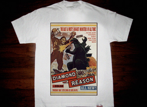diamond supply co x reason east and wests biggest monsters all time tee