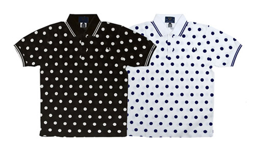 fred perry polka dot polo dover street market exclusive