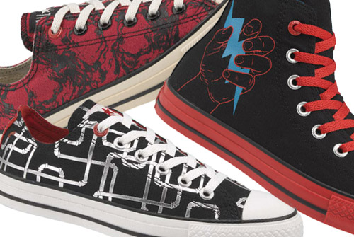 Converse:: How to wear them with dresses, colors, and funky laces Converse-1hundred-artists-1