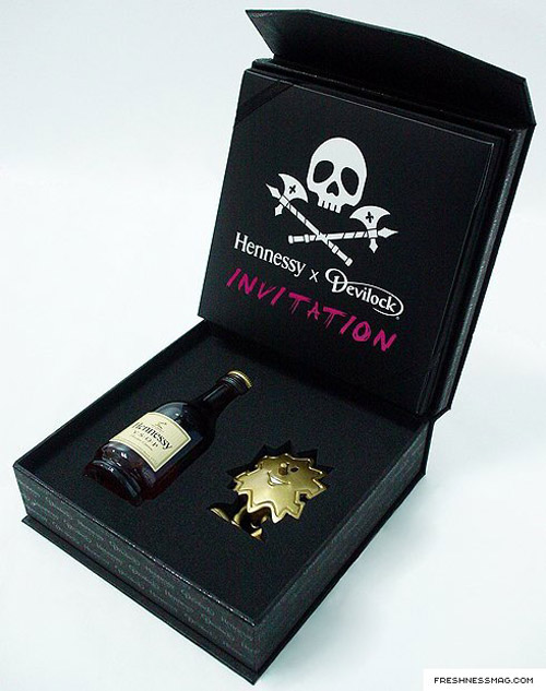 hennessy x devilock palmboy invite box set