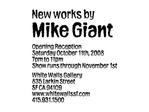 new works by mike giant
