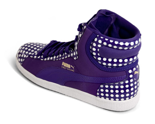 puma first round womens polka dots