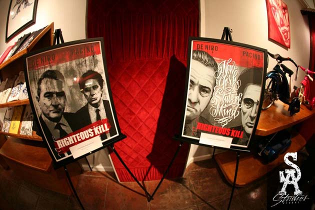 righteous kill exhibition opening