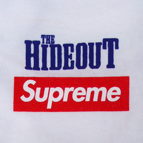 the hideout x supreme 10th anniversary t shirt