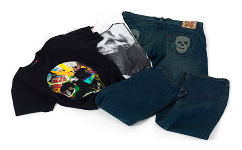 damien hirst x levis 2008 fall collection