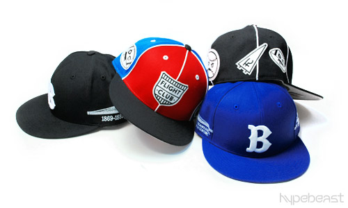 flight club x mitchell ness brooklyn ball busters fitted caps