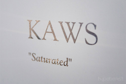 kaws saturated show opening