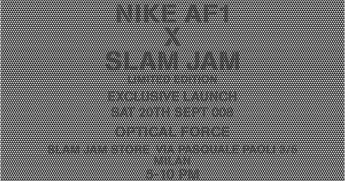 slamjam x nike optical force air force 1 exclusive launch