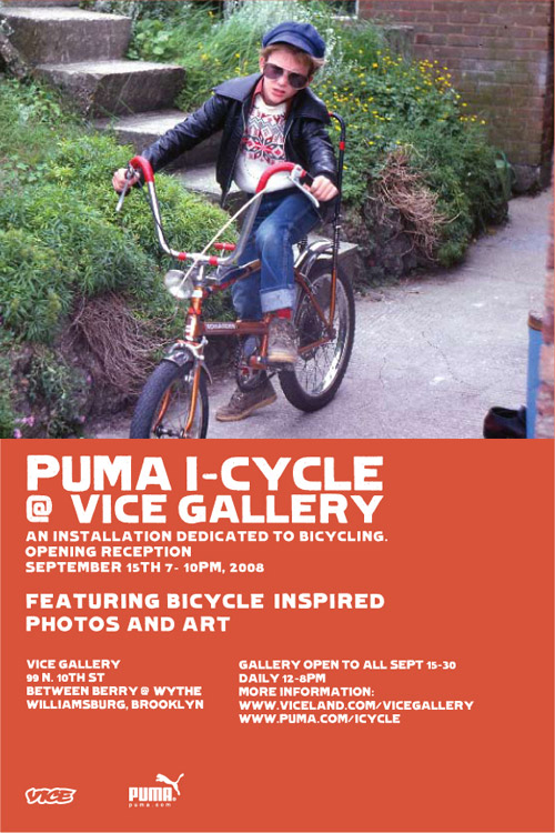 puma presents i cycle space at vice gallery