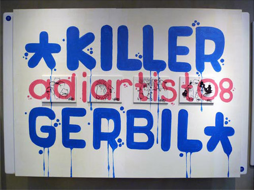 the killer gerbil x adidas adiartist