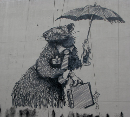 banksys business rat piece