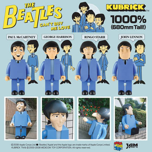 medicom toys kubrick 1000 the beatles cant buy me love