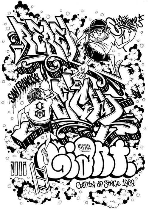 mike giant greetings from san francisco exhibition