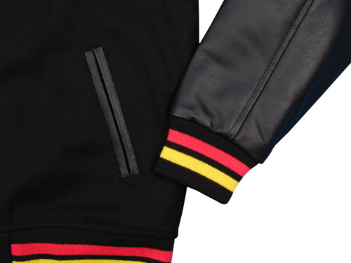 black rainbow x bkrw in hoc signo vinces varsity jacket