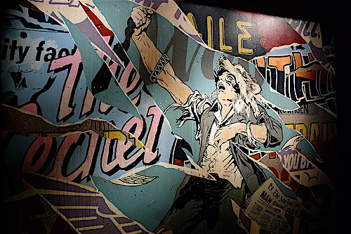 faile lost in glittering shadows at lazarides gallery