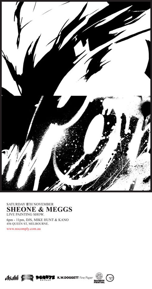 sheone meggs live painting exhibition