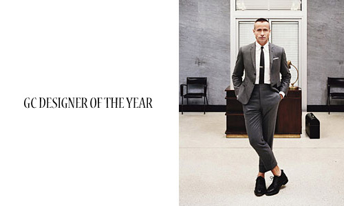 gq designer of the year thom browne