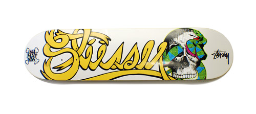 in4mation x stussy the sophmore t shirt deck