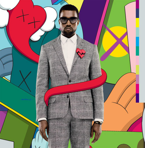 kanye west 808s heartbreak album cover by kaws