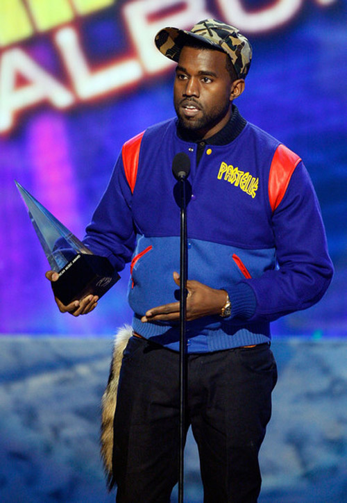kanye west pastelle jacket preview at the american music awards