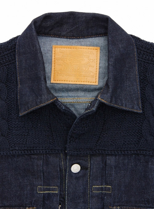 levis fenom 2nd type navy knit custom jacket
