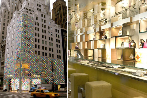 louis vuitton flagship store wrapped up in murakami