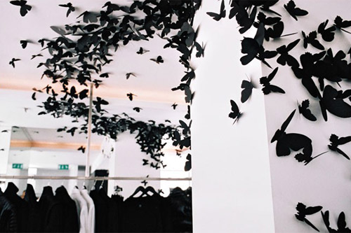 andrea mastrovito butterfly installation at dior homme paris