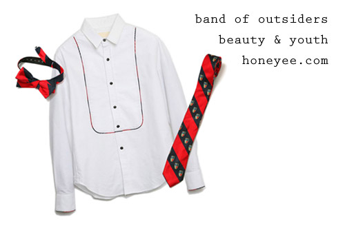 band of outsiders x beauty youth x honeyeecom bowtie and necktie a closer look