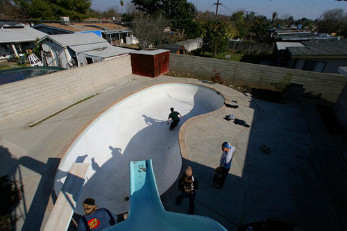 forclosures leading to skateable empty pools