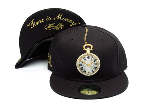 frank151 x new era 59fifty time is money fitted cap
