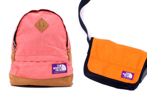 nanamica x the north face purple label bags
