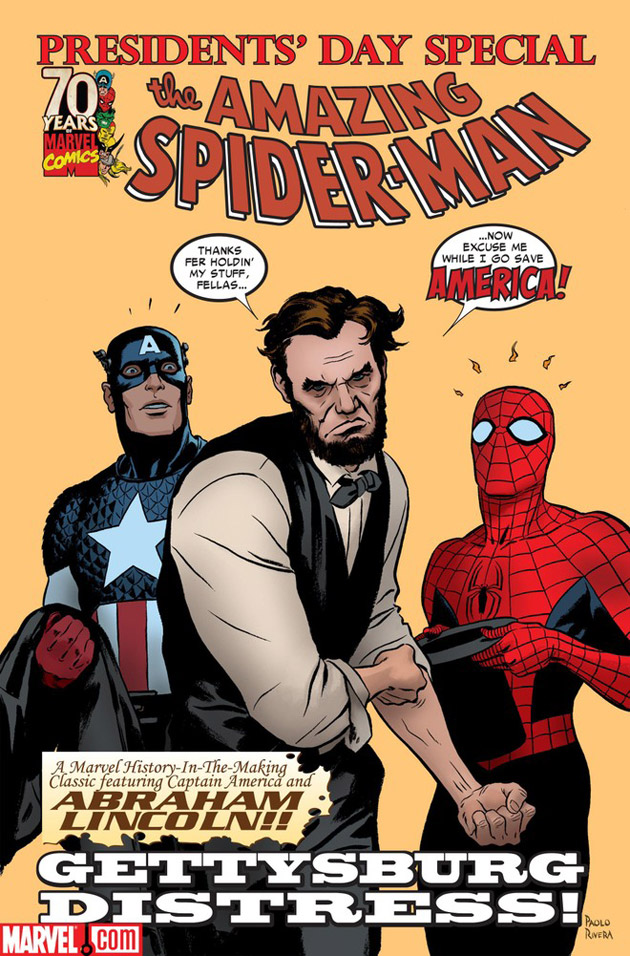 abraham-lincoln-amazing-spiderman-comic