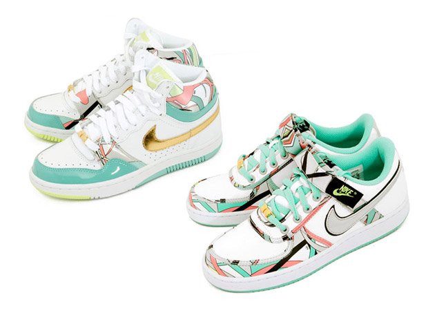 "NIKE Court Force Hi & Vandal Low ""Pucci"" Femininos"