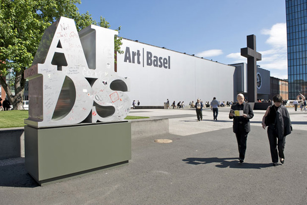 Art Basel celebrates its 40th anniversary in the city of Basel; image held here