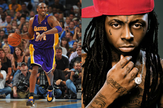 Lil' Wayne shows his support for Kobe Bryant as one of the best players of
