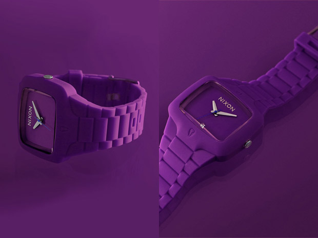nixon-black-purple-rubber-watches