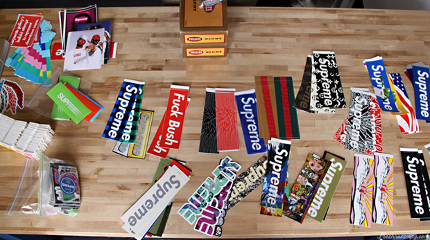 Freshness Feature: Supreme Sticker Collection.