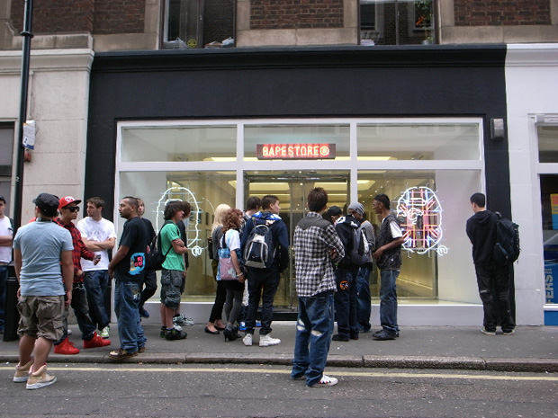 bape bathing ape london store opening 2 Bape London Store Opening