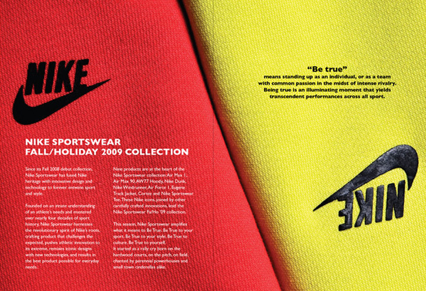 Nike sportswear 2009 fall lookbook hypebeast for Nike brochure design