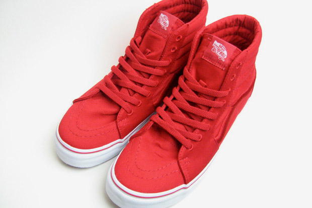vans sk8 all red
