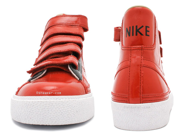 nike blazer ac high red velcro