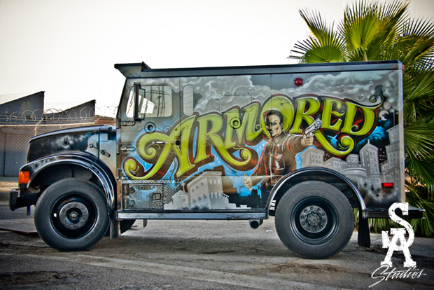 Mr. Cartoon's Armored Truck