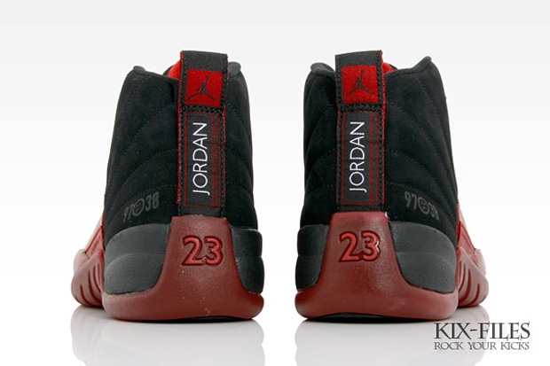 black and red jordans 12
