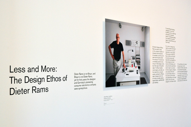 dieter rams less and more exhibition design museum 2 Dieter Rams Less and More Exhibition @ Design Museum