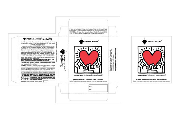 keith haring proper attire condoms Keith Haring for PROPER ATTIRE Condoms