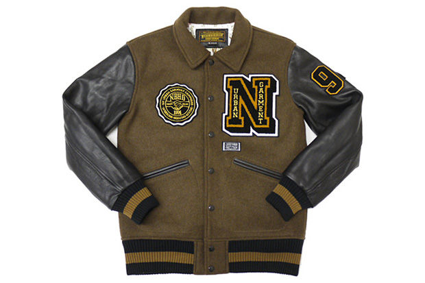 neighborhood-wdwyfw-melton-wool-brown-stadium-jacket