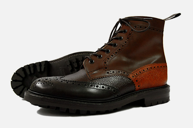 nepenthes trickers multi tone brogue boot 2 NEPENTHES x Trickers Multi Tone Brogue Boot