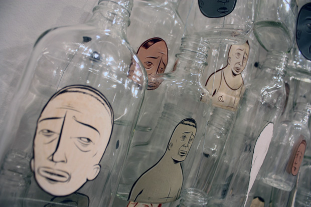 barry-mcgee-99-bottle-installation
