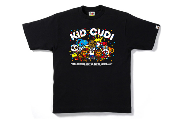 kid cudi a bathing ape bape milo party tshirt Kid Cudi x A Bathing Ape Milo Party T shirt